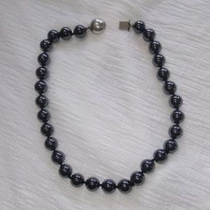 Vintage Glass Bead/Silver Necklace